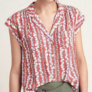 Anthropologie Maeve Daisy Chain blouse M